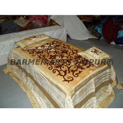 Designer Bed Cover Velvet Cutwork Embroidery
