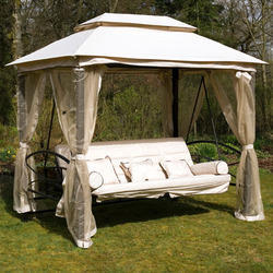Gazebo Garden Swings Bed with top Canopy and Mosquito Net