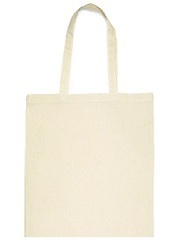 Off White Cotton Tote Bags, Size/Dimension: Rectangular