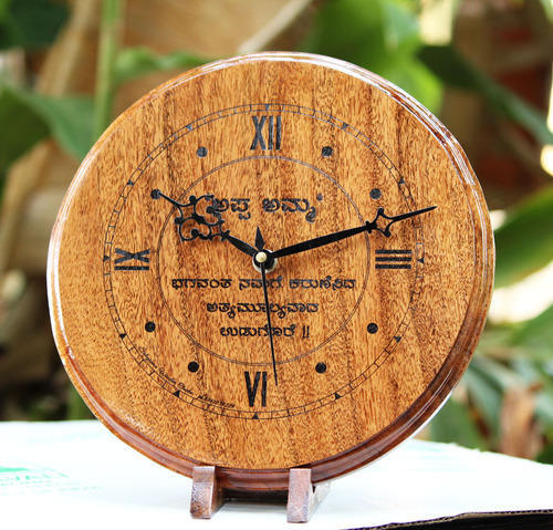 Wooden Clocks   Customized Laser Engraved Wooden Clocks At Rs 1050 Unit Wooden