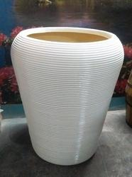 White Conical Outdoor Planter, For Decoration