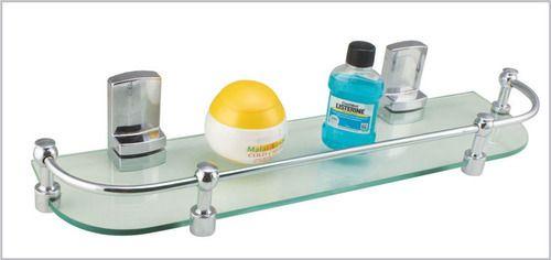 Capri Wall Mounted Glass Shelf, For Bathroom