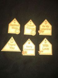 MDF Decorative Tags
