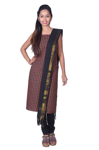 Checkered South Cotton Salwar Suit