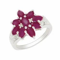 SHRI0105 Ruby Silver Ring
