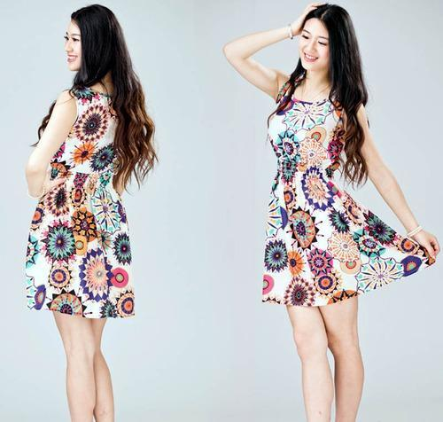 efed7b754d Girls Flower Print Lady Casual Beach Dresses Robe, Rs 399 /piece ...