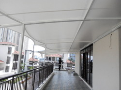 Membrane Tensile Roof Structures - Balcony