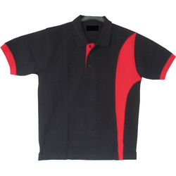 Black and Red Collar T-Shirt