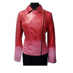 Lamb Degrade Leather Jacket