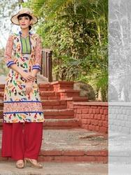 Cotton Designer Long Kurtis