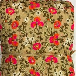 Embroidered Banglori Silk Embroidery Fabric