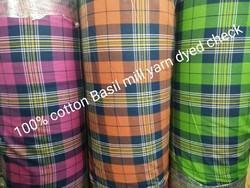 Yarn Dyed Twill Check Fabric (Basil Mill)