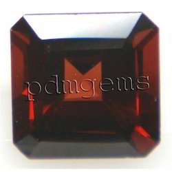 Garnet Square Octagon Gemstone