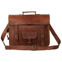 Genuine Leather Tablet Messenger Bag MESS112