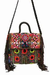 Suede Leather Banjara Messenger Bag, Yes