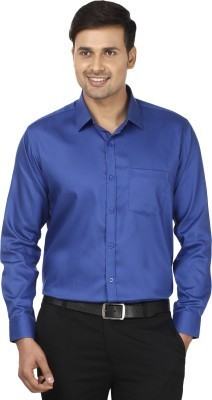 Men's Solid Formal Blue Shirt at Rs 300 /piece(s) | Sector 10 A ...