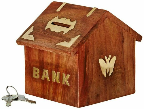 Wood Handicraft Bank At Rs 200 Pack Wooden Handicraft Id