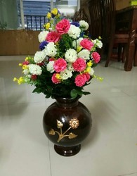 Hyperboles Artificial Flower Bunch With Vase