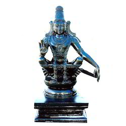 Divine Black Stone Lord Ayyappa 42 Inches