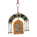White Metal Durga Wall Hanging