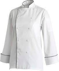 White Gaberdin Chef Coats, Size: M And L