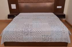 Block Print Patchwork Kantha Indian Cotton Quilt
