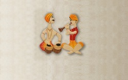Wooden Hand Crafted Antique Rajasthani Wall Art
