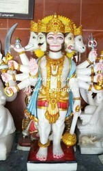 Panchmukhi Marble Statue