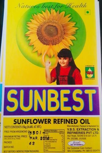Double Refined Sunflower Oil (sunbest) - VBS Extraction