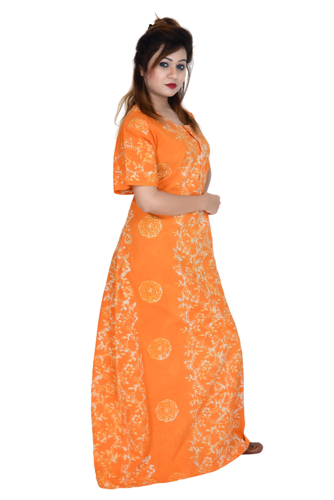 cotton gown for ladies