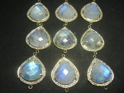 Labradorite Pave Set Gemstone Connector
