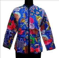 Printed Foral Cotton Kantha Jacket