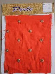Chiffon Butti Design Embroidery Fabric