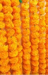 Hyperboles Artificial Marigold Garlands( Set Of 5)