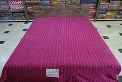 Plain Kantha Bed Sheet