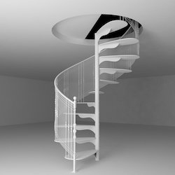 Indoor Steel Spiral Staircase