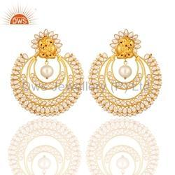 Indian Traditional Kundan Earrings