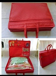 Zipper Red Bags, For Personal