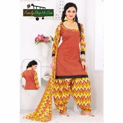 4a95290819 Cotton Printed Unstitched Patiala Suit at Rs 665 /piece | Subash ...