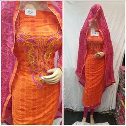 Thread Work Dupatta Cotton Suit