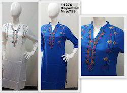 Rayon Flex Embroidery Kurta