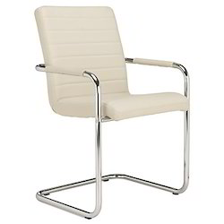 White 1 Black Leather Office Chair