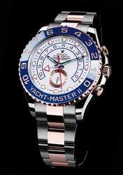 Silver, Golden Analog Rolex Yacht- Master Ii Watch For Men