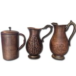 Smokey Finished Copper Water Pitchers