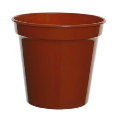 Orange Plastic Pot
