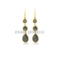 Labradorite Gold Plating Earring