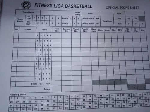 Score Sheet  Volleyball Score Sheet Manufacturer From New Delhi