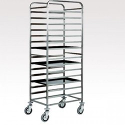 Shree Ambica Stainless Steel Dish Trolley