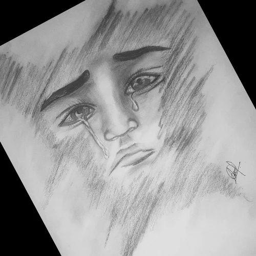 Sketch Art Broken Heart