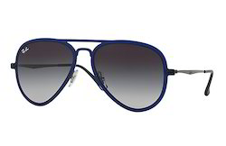Rayban Aviator Light Ray Men Sunglass Gunmetal and Blue